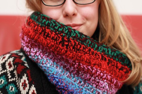 Tri-colour striped Snood