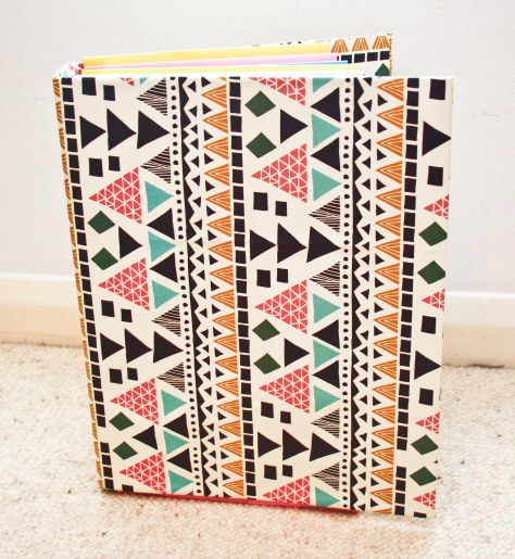 geometric stationery folder