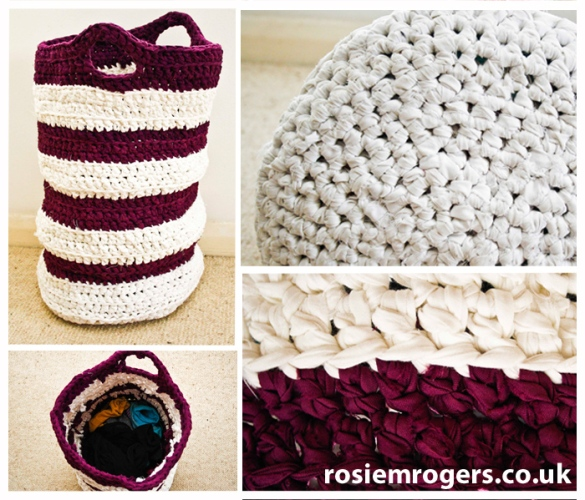 Crochet washing basket