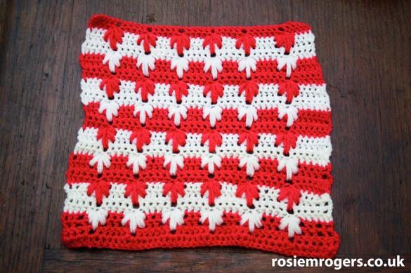 Crochet leaf pattern