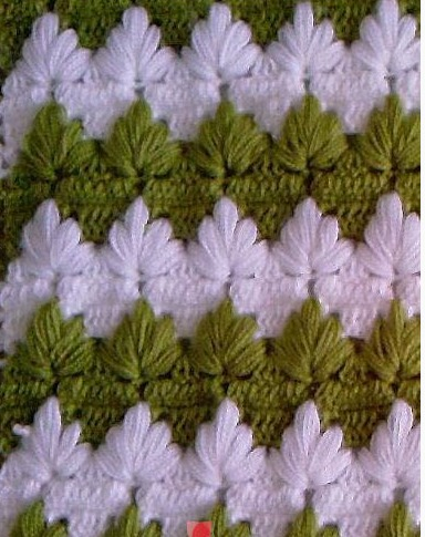 Crochet Leaf stitch